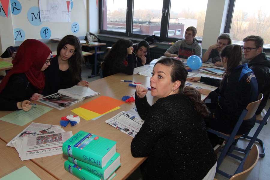 Der Französischkurs stellt sich vor.