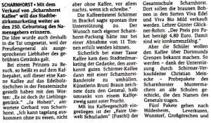 FUSCHL Scharnhorst-Kaffee-Aktion