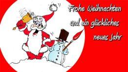Grüße zum Weihnachtsfest und zum neuen Jahr