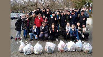 Achtklässler aktiv gegen Müll