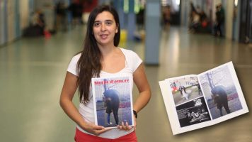 Italienisch-Schüler erstellen einen Fotoroman Storia D'Amore